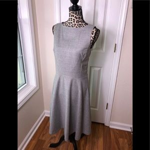 Banana Republic Fit and Flare Grey Dress Size 4